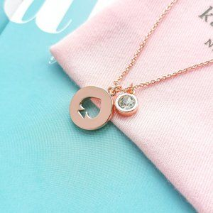 NWT Rose Gold Spot The Spade Necklace + dust bag